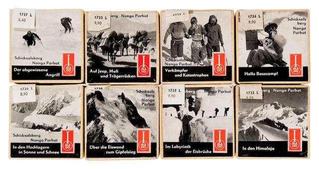 NANGA PARBAT—HIMALAYAS. HERRLIGKOFFER, KARL M., AND HANS HOFMANN. Schicksalsberg Nanga Parbat. Radebeul: Imago Strahlbild, [1955].