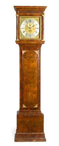 A fine George I month going walnut longcase clock Signed  Dan'l Quare, London, first quarter 18th century