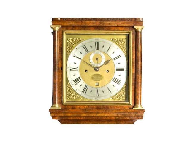 A fine George I month going walnut longcase clock Signed  Dan'l Quare, London, first quarter 18th century