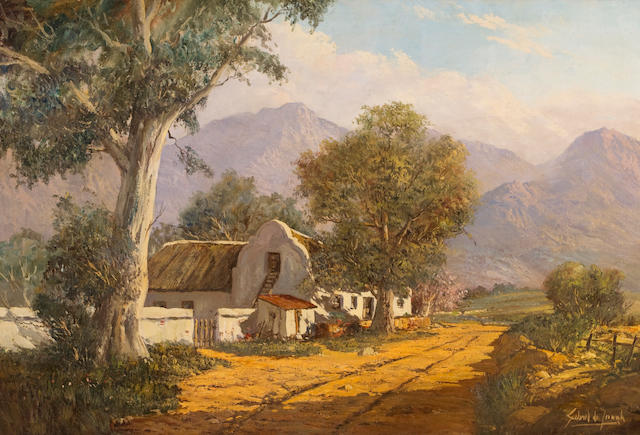Gabriel Cornelis de Jongh (South African, 1913-2004) White cottage