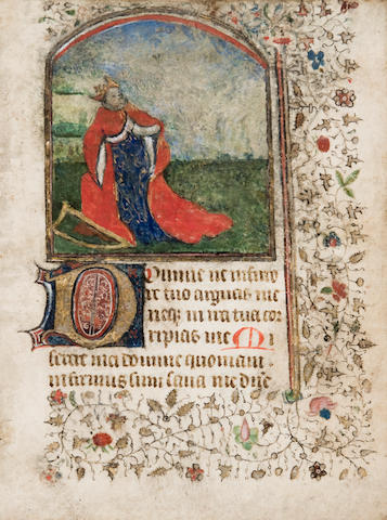 BOOK OF HOURS. Illuminated Latin manuscript on vellum. [Northern French, likely Paris, c.1440.]