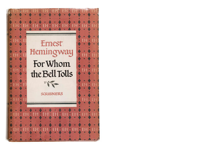 HEMINGWAY, ERNEST. 1899-1961. For Whom the Bell Tolls. New York: Charles Scribner's Sons, 1955.<BR />