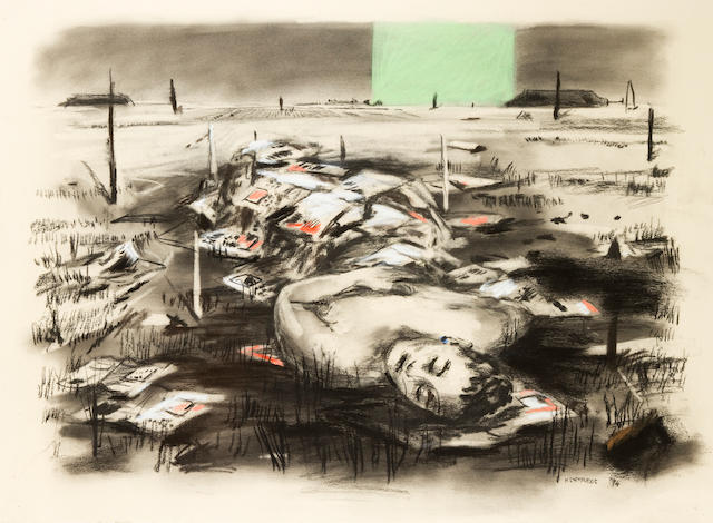 William Joseph Kentridge (South African, born 1955) Drawing for 'Felix in Exile' (Death of Nandi)