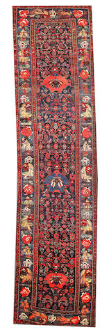 A Bidjar runner Northwest Persia size approximately 4ft. 5in. x 16ft. 7in.