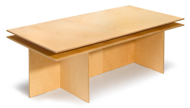A Donald Judd plywood table  2003
