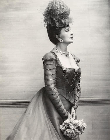 Cecil Beaton Actress in a Play (Carol Browne), as Mrs. Erlynne in Lady Windermere's Fan, 1966, Black and white photograph h x w: 9 x 7 in.