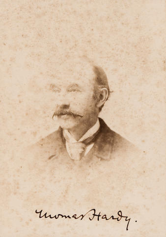 "HARDY, THOMAS. 1840-1928. Photograph Signed (""Thomas Hardy.""), albumen print"