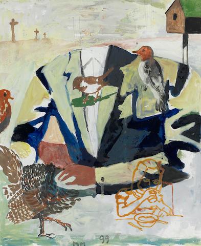 Martin Mull (born 1943) Study for Birthday Boy II, 1999 10 3/4 x 8 3/4in (27.3 x 22.2cm)