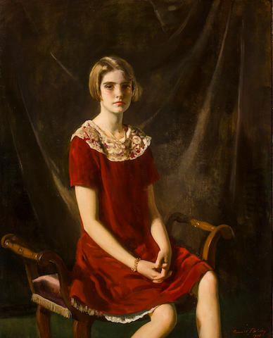 Oswald Birley Portrait of Barbara Hutton Signed and dated 'Oswald Birley/1925' (lower right) Oil on canvas h x w: 50 x 40 in.