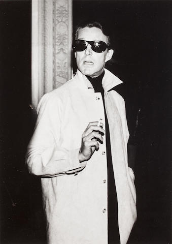 Roxanne Lowit (Ameircan, b. 1970) Photograph of Man in Sunglasses (Possibly Hamish?) Black and white photograph h x w: 18 x 13 in.