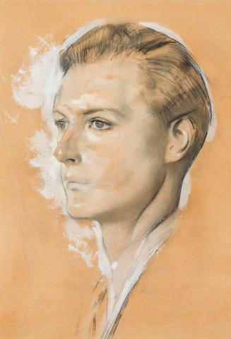 Alfred Kingsley Lawrence Lord Plunket Pencil and oil on paper laid down on board h x w: 17 x 12 in.