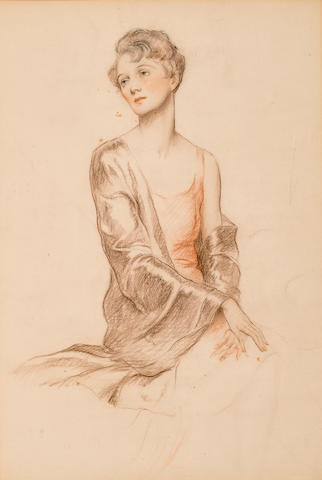 Unknown Artist, Portrait of Beatrice Lilley, reverse: Portrait of Lily Hudson, Colored pencil on paper h x w: 18 ¾ x 13 in. (47.63 x 33cm)