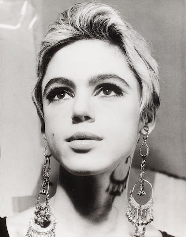 Artist Unknown, Edie Sedegwick (Factory Girl), Black and White photograph 18 1/2 x 14 1/2 in. (47 x 36.83cm)
