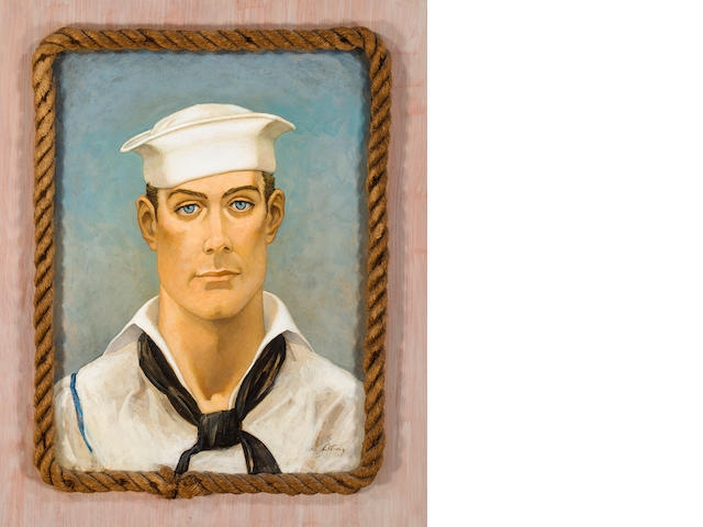 Emeling Etting Sailor's head (Bob Heisler) 1939, oil on card 15 ½ x 21in.
