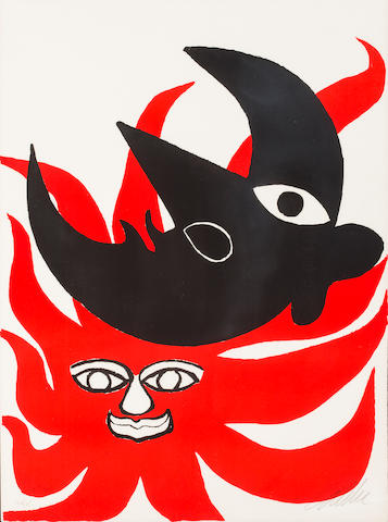 Alexander Calder Sun and Moon color print 44/75