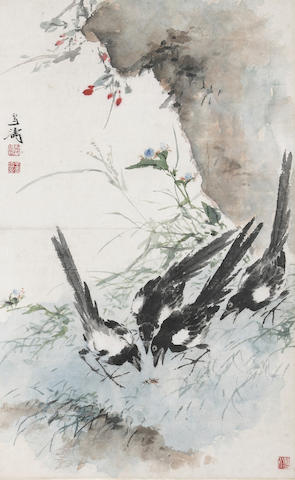 Attributed to Wang Xuetao (1903-1982)  Two Bird and Flower paintings