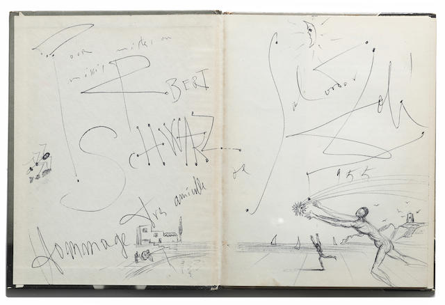 DALI, SALVADOR, AND PHILIPPE HALSMAN. Dali's Mustache: A Photographic Interview. New York: Simon and Schuster, [1954].