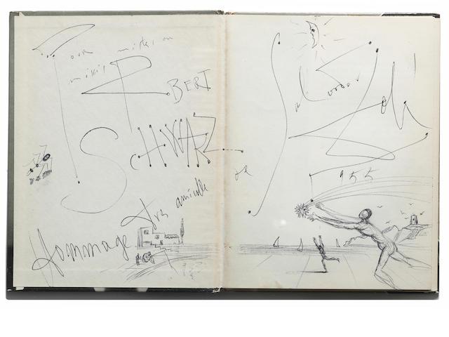 DALI, SALVADOR. & PHILIPPE HALSMAN. Dali's Mustache: A Photographic Interview. New York: Simon and Schuster, [1954].