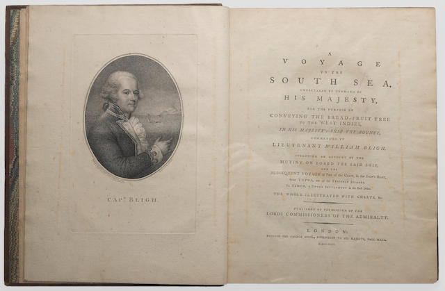 BLIGH, WILLIAM. 1754-1817. A Voyage to the South Sea, Undertaken by Command of His Majesty.... London: for George Nicol, 1792.