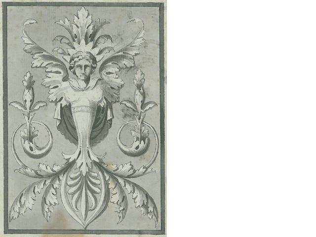 QUEVERDO, FRANCOIS M.I., AND CHARLES NORMAND. Epoque Louis XVI: Décorations intérieures, frises, dessus de portes, panneaux, devants de cheminées, etc. Paris: Bance, [c.1845].