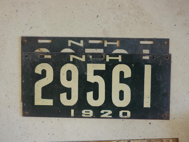 In match set of New Hampshire 1920 license plates,