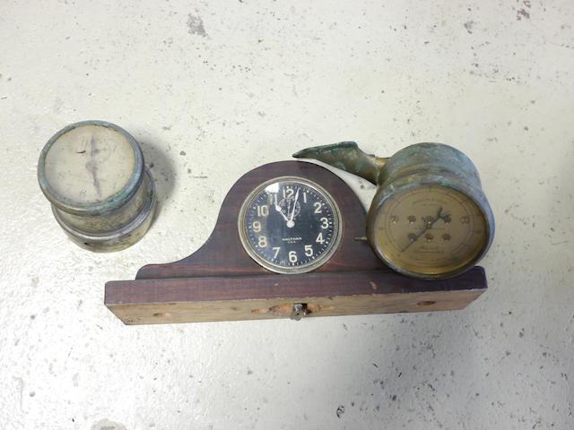 A brass Stewart speedometer,