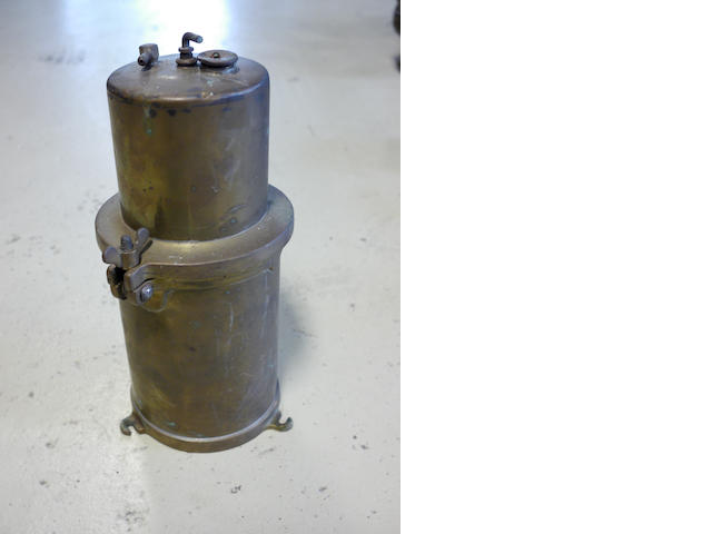 A good quality brass acetylene generator,