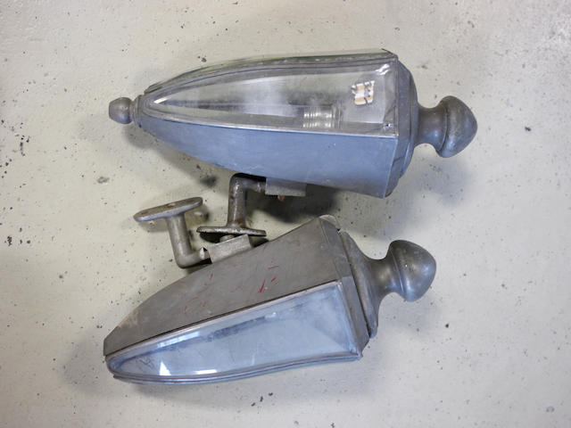A pair of nickel plated town car lamps,