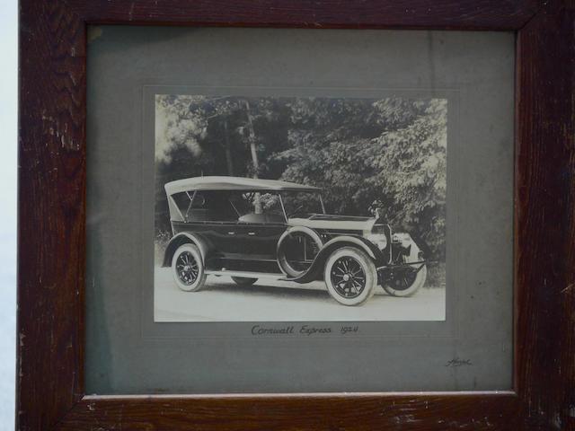 "A good, large, original photo of a 1924 Pierce-Arrow Series 33 Tourer, 22.5"" x 22.5"""