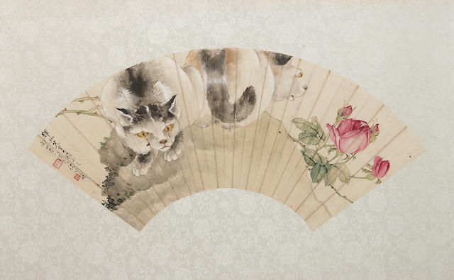 Various Artists (19th/20th century) A group of twelve paintings of Landscape, Bird-and-Flower, and Calligraphy Subjects
