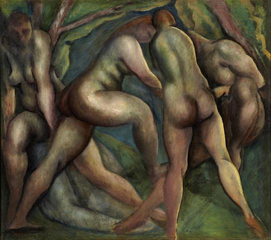Lorser Feitelson (1898-1978) Bathers, 1920 40 1/4 x 45 1/2in (102.2 x 115.6cm)