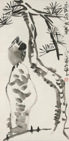 Ding Yanyong (1902-1978)  Bird and Pine