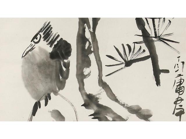 Ding Yanyong (1902-1978) Bird and Pine