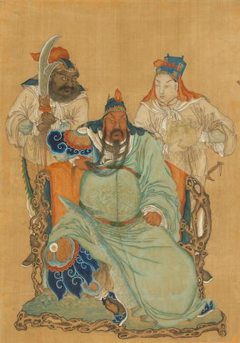 Anonymous (19th/20th century) A pair of paintings of Guan Yu
