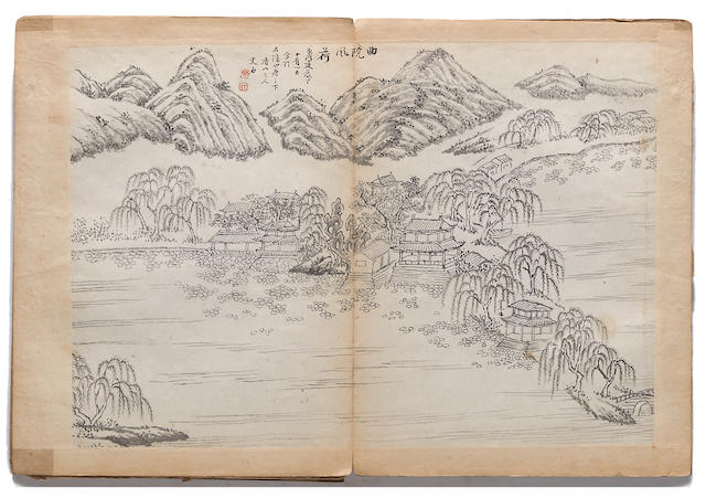 Unidentified Artist (19th century) An album of paintings of the Views of West Lake