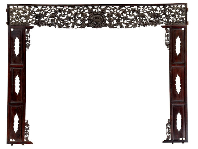 A group of hardwood architectural elements Late Qing/Republic Period