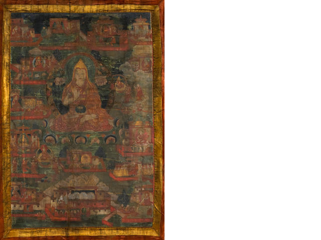 A Tibetan thangka of Tsongkhapa 19th century