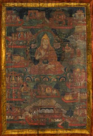 A Tibetan thangka of Tsongkhapa 19th century