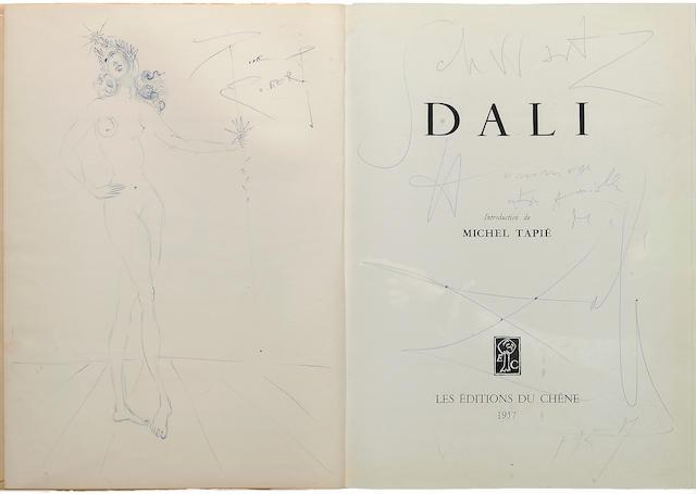 DALI, SALVADOR. 1904-1989. TAPIE, MICHEL. DALI. [Paris]: Les Editions du Chene, 1957.