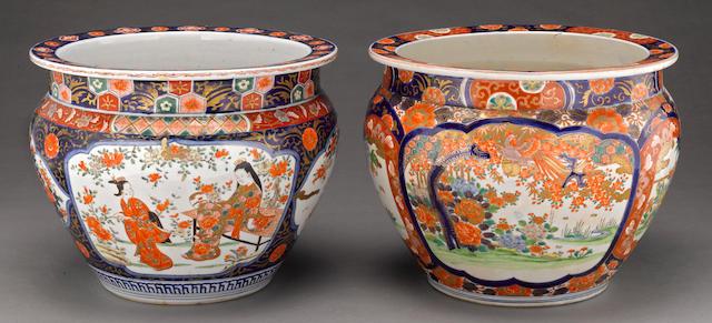 Two Imari porcelain planters Meiji/Taisho period