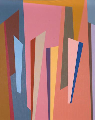 Karl Stanley Benjamin (1925-2012) #10, 1986 30 x 24in (76.2 x 61cm) unframed