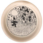 William Nelson Copley (1919-1996) Now? No!; Untitled (double-sided) diameter 10 1/4in (26cm)