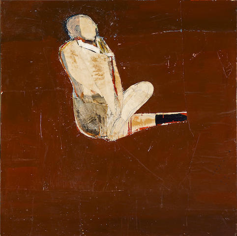 Nathan Oliveira (1928-2010) Seated Man with Wrap, 1958 48 x 48in (121.9 x 121.9cm)