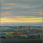 Larry Cohen (born 1952) Century City seen from Stanwood Drive, 1991 22 x 22in (55.9 x 55.9cm)