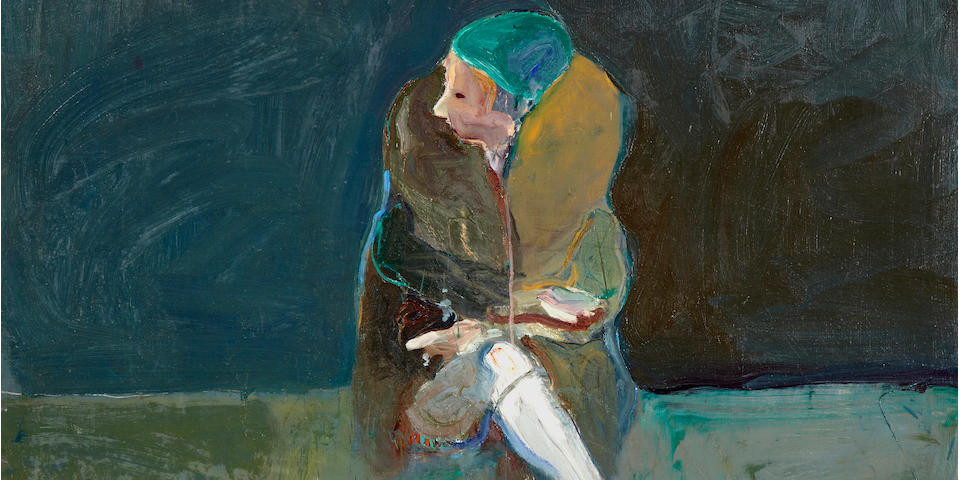 Nathan Oliveira (1928-2010) Seated Woman with Fur Collar, 1961 54 x 50in (137.2 x 127cm)