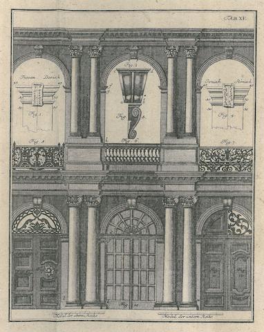 SUCKOW, LORENZ JOHANN DANIEL. 1722-1801. Erste Gründe der bürgerlichen Baukunst. Jena: Christian Heinrich Cuno, 1781.