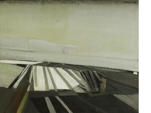Raimonds Staprans (born 1926) Grain Fields, 1966 28 x 34in (71.1 x 81.3cm)
