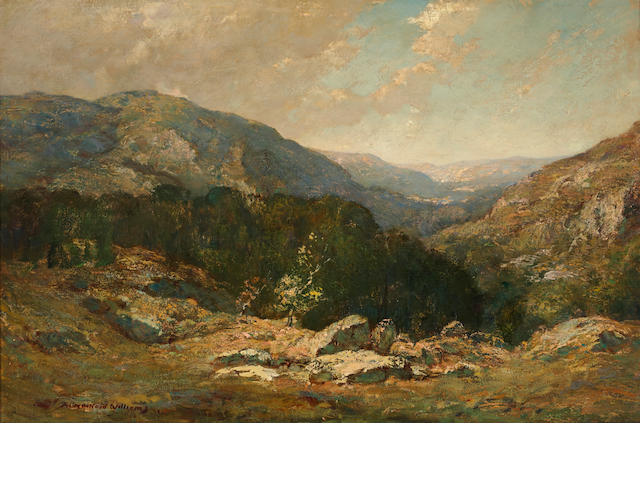 "Frederick Ballard Williams ""Hills of Purple and Rose"" oil on canvas"