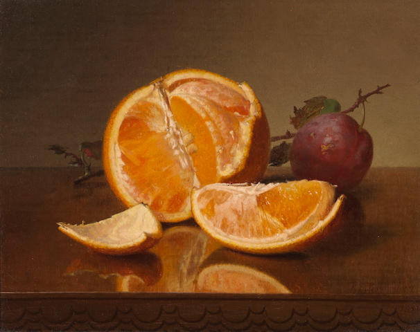 Robert Spear Dunning, Still life with orange and plum