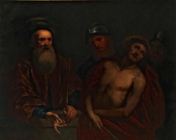 Italian School, 17th Century  19TH/20TH C. COPY? Christ before Caiaphas 50 x 62in